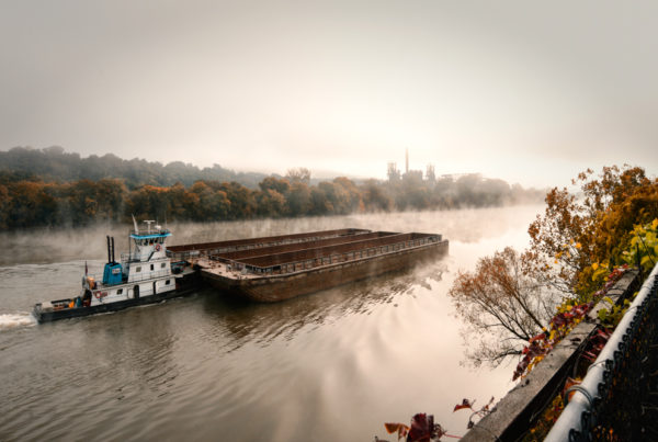 A Barge on the Mon River